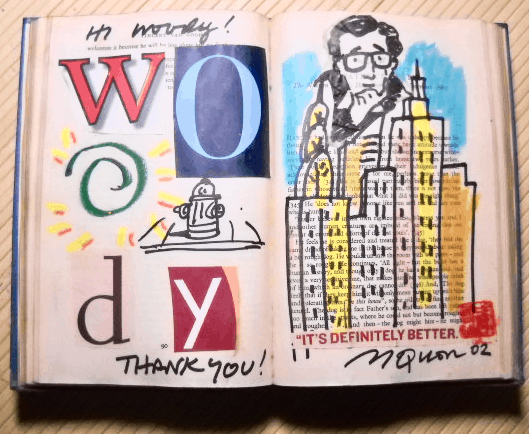 Woody Allen Collage Book