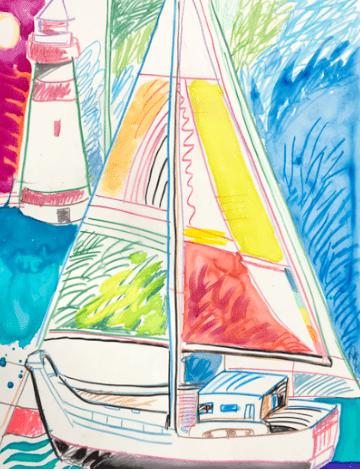 Sailing Yupo