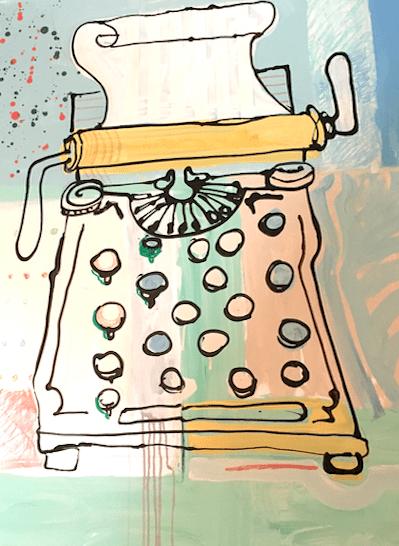 Typewriter Pop Art