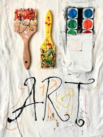 Art Materials Collage